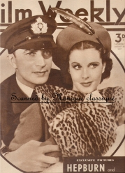 Conrad and Vivien Leigh on the cover of Film Weekly magazine in Dark Journey (1937)